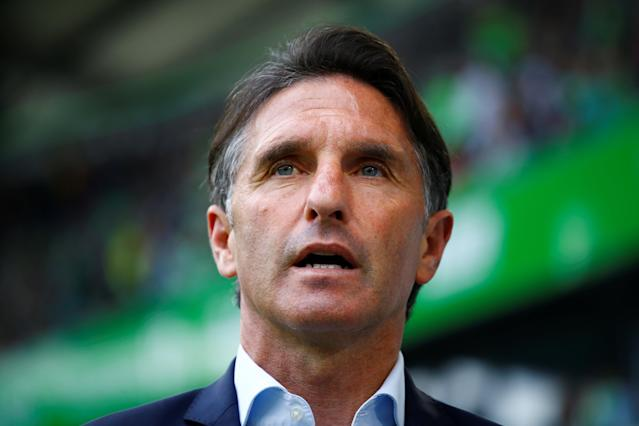 Soccer Football - Bundesliga - VfL Wolfsburg v FC Cologne - Volkswagen Arena, Wolfsburg, Germany - May 12, 2018 Wolfsburg coach Bruno Labbadia before the match REUTERS/Wolfgang Rattay DFL RULES TO LIMIT THE ONLINE USAGE DURING MATCH TIME TO 15 PICTURES PER GAME. IMAGE SEQUENCES TO SIMULATE VIDEO IS NOT ALLOWED AT ANY TIME. FOR FURTHER QUERIES PLEASE CONTACT DFL DIRECTLY AT + 49 69 650050
