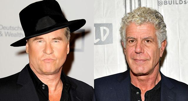 Val Kilmer and Anthony Bourdain (Photo: Getty Images)