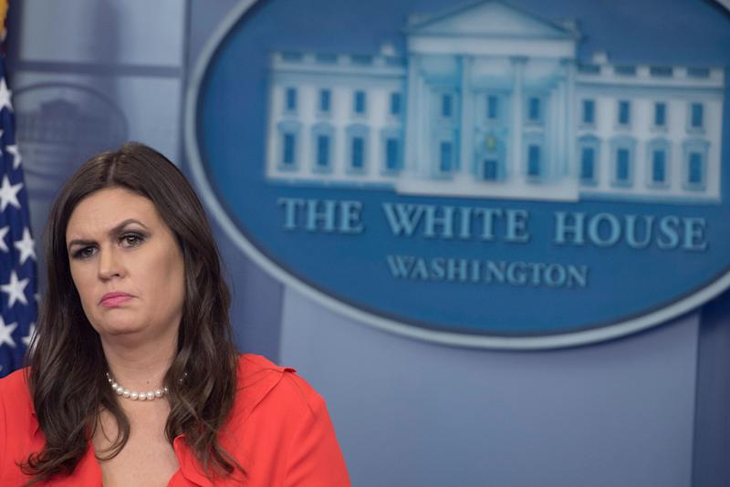 At Tuesday's briefing, White House Press Secretary Sarah Huckabee Sanders defended President Trump by citing the poor poll numbers of his GOP critics.