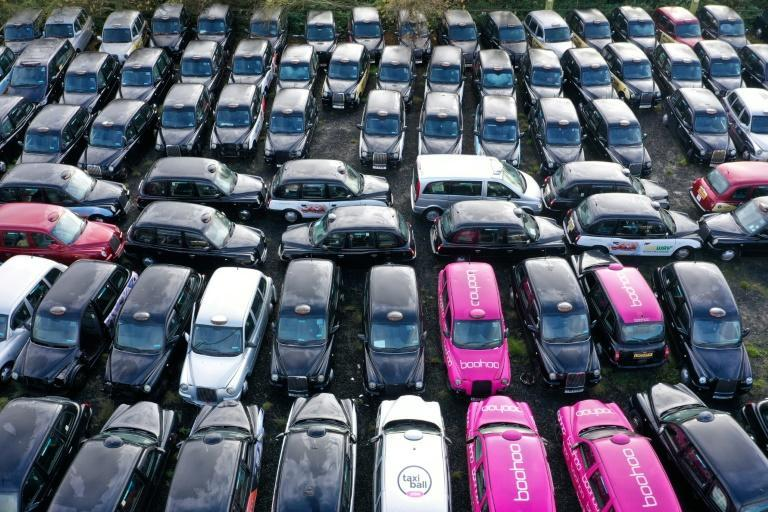 Newspaper pictures published worldwide last year showed a sea of abandoned cabs parked up in a field east of London