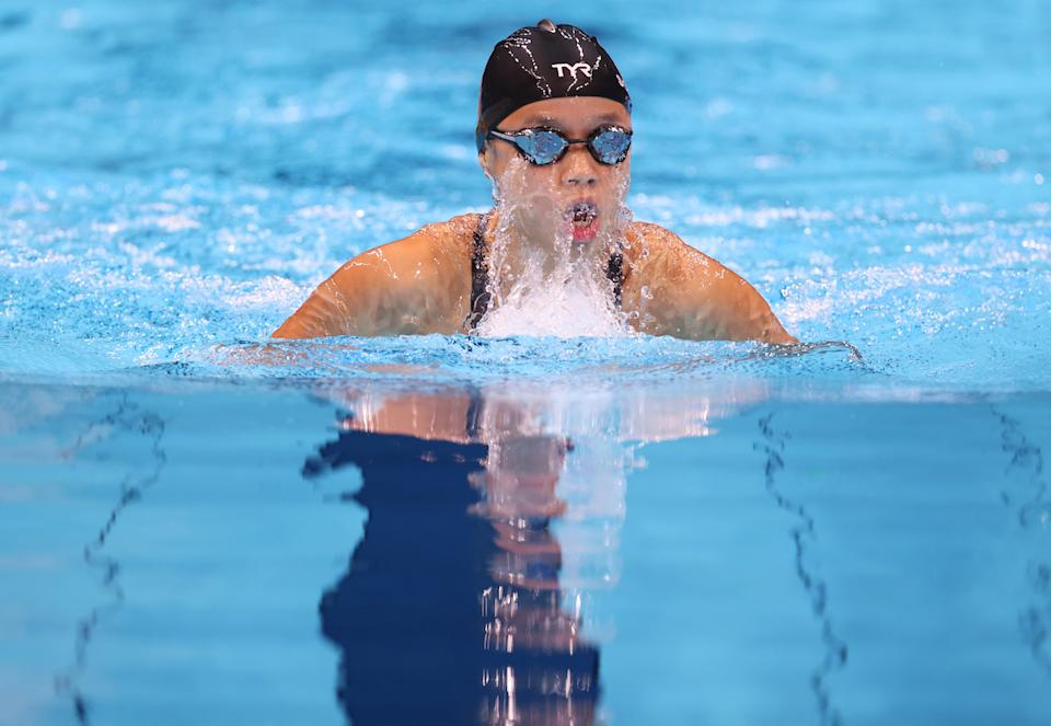 Singapore swimmer Sophie Soon competes in the women's 100m breaststroke (SB13) final at the 2020 Tokyo Paralympics, (PHOTO: Sport Singapore)