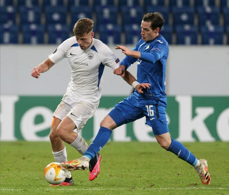 Sebastian Rudy (R) is one of the Hoffenheim players to test positive for the coronavirus with the whole squad now in quarantine