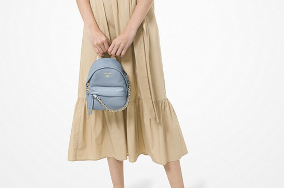 Slater Extra-Small Pebbled Leather Convertible Backpack. (PHOTO: Michael Kors)