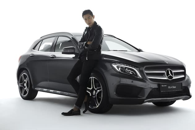 Desmond Tan says he can't wait to take his new GLA on an adventure