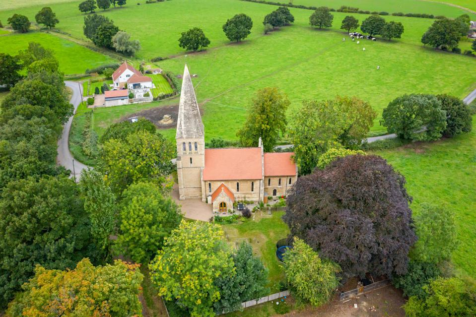 The church spire is visible for miles around. (Simon Blyth Estate Agents, Kirkburton via OnTheMarket)
