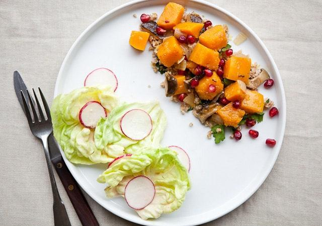 "A hearty, satisfying vegetarian take. <a href=""https://www.bonappetit.com/recipe/butternut-squash-shiitake-ragout?mbid=synd_yahoo_rss"" rel=""nofollow noopener"" target=""_blank"" data-ylk=""slk:See recipe."" class=""link rapid-noclick-resp"">See recipe.</a>"