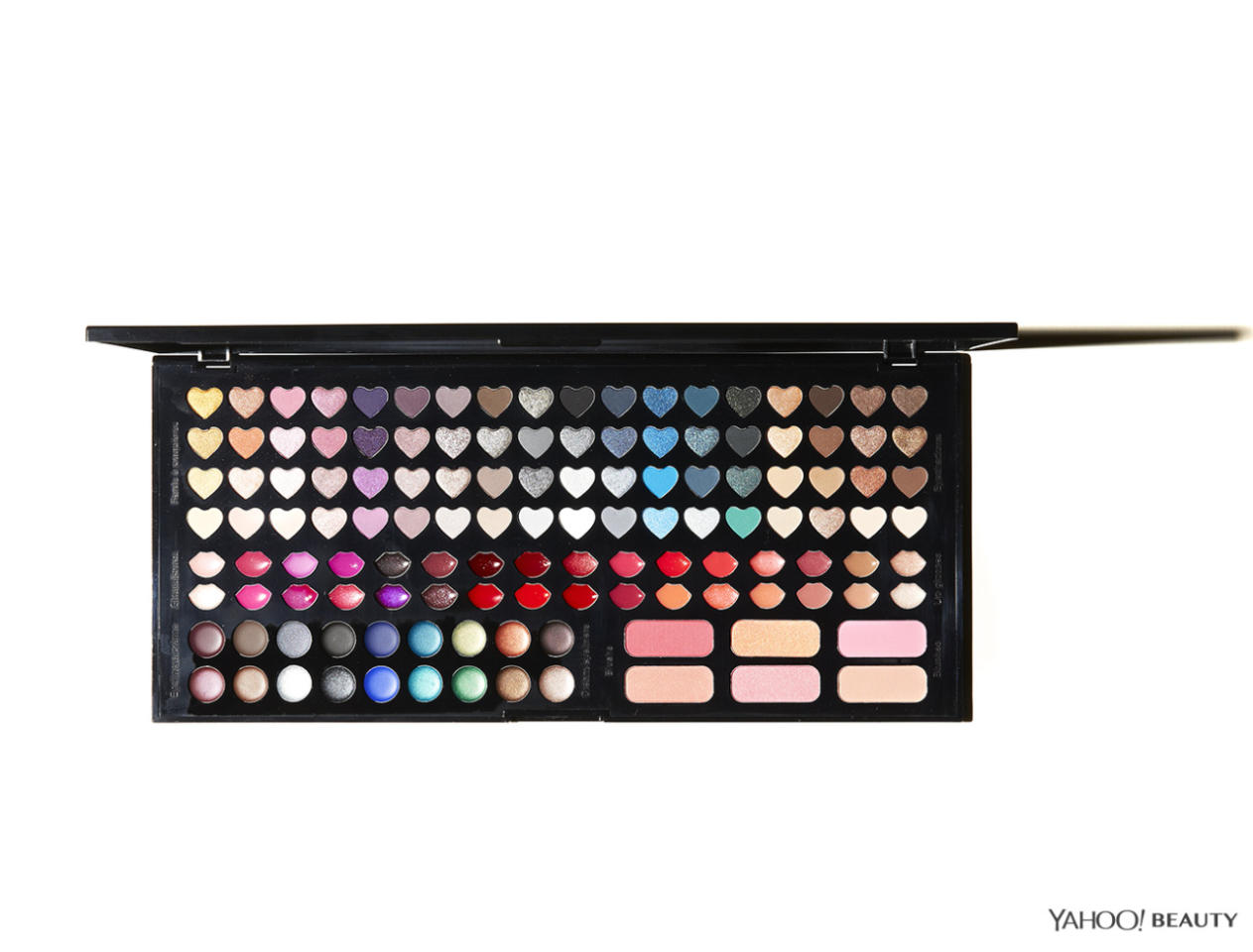 """<p>Eyes and lips, and cheeks, oh my! You'll have 128 colors to choose from in this limited edition palette. <a href=""""http://www.sephora.com/beautiful-crush-blockbuster-palette-P399917?skuId=1698604"""">Sephora Collection Beautiful Crush Blockbuster Palette</a> ($35)</p>"""