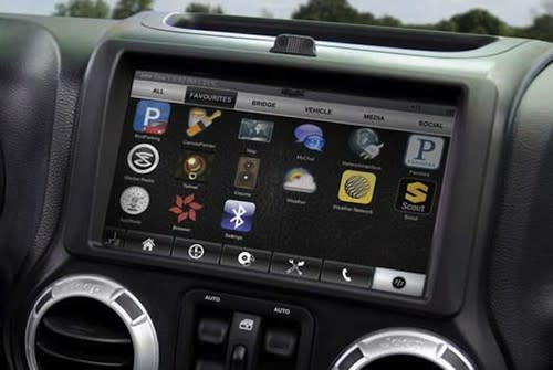 Jeep Wrangler with futuristic dashboard courtesy of RIM owned QNX shown off