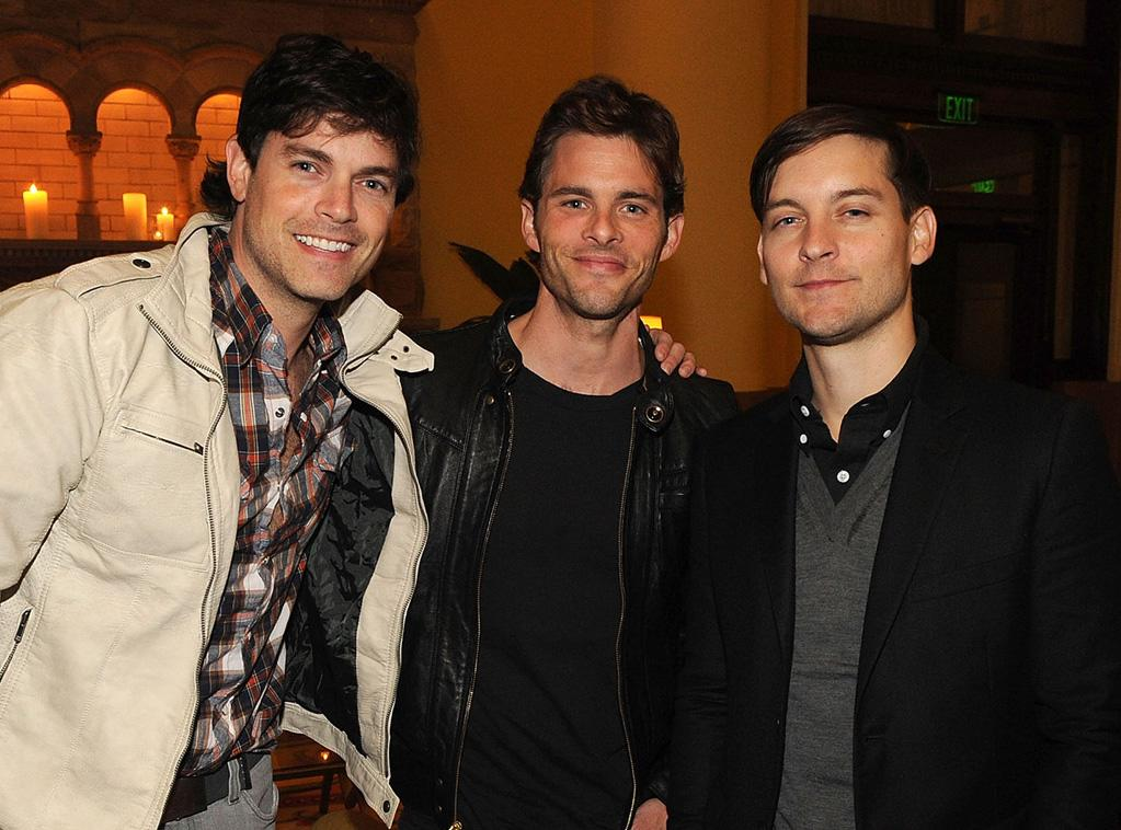 """Jarrod Lowenstein, <a href=""""http://movies.yahoo.com/movie/contributor/1800355003"""">James Marsden</a> and Tobey Maguire]] attend the Nashville premiere of <a href=""""http://movies.yahoo.com/movie/1810133348/info"""">Country Strong</a> on November 8, 2010."""