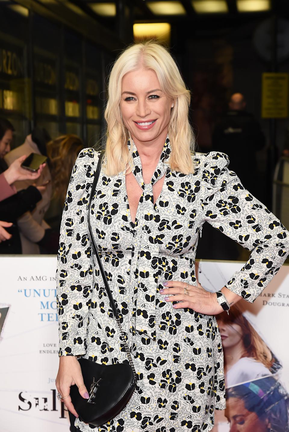 Denise van Outen attends the World Premiere of Sulphur And White on February 27 2020 in London (Photo by David M. Benett/Dave Benett/WireImage)