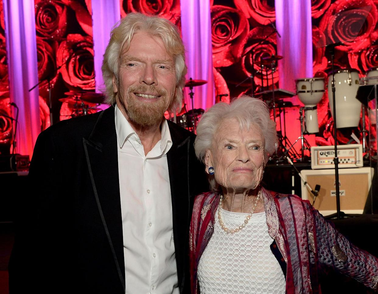 Richard Branson (L) and honoree Eve Branson attend the AltaMed Power Up, We Are The Future Gala at the Beverly Wilshire Four Seasons Hotel on May 12, 2016 in Beverly Hills, California.