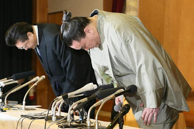 Harumafuji apologised for the damage caused to the ancient sport of sumo (AFP Photo/-)