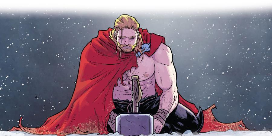 thor holding a hammer