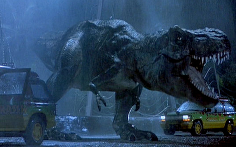 T.Rex probably did not roar like today's carnivores but made a sinister, closed-mouth rumble - Credit: Jurassic Park