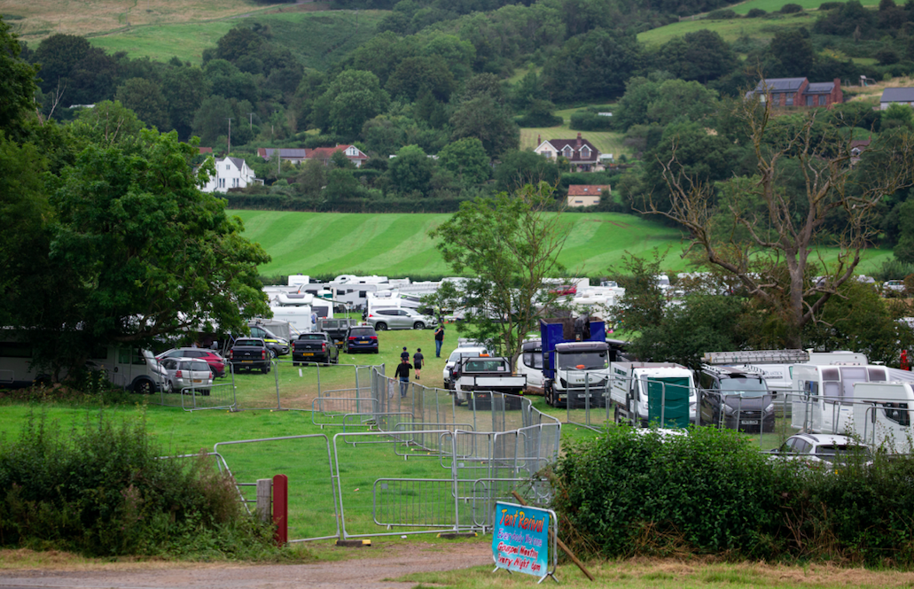 The gathering is happening on a field near to where a car boot sale normally take place. (SWNS)