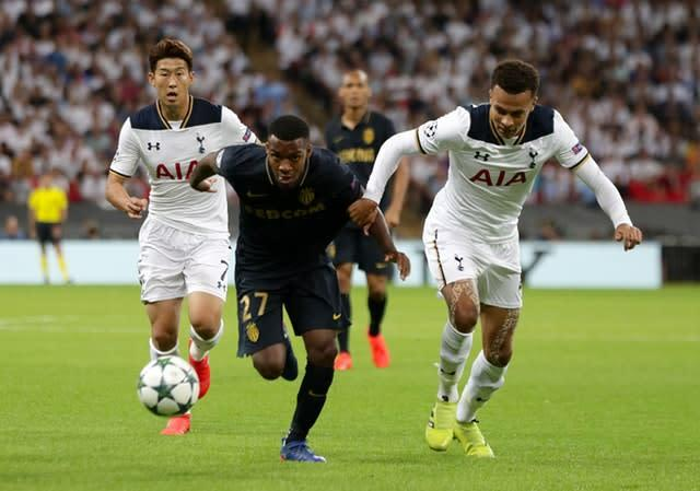 Thomas Lemar (centre) could be soon be lining up for Tottenham (Yui Mok/PA)