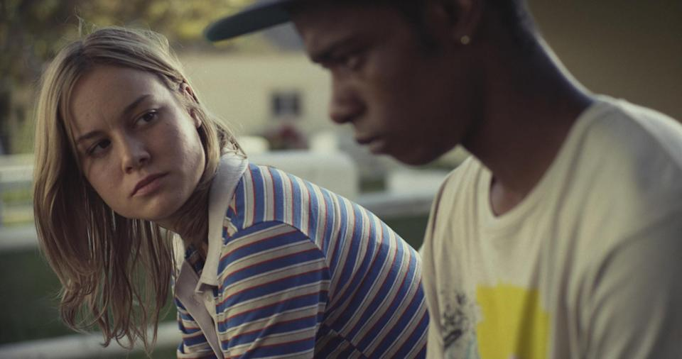 Brie Larson sits beside LaKeith Stanfield
