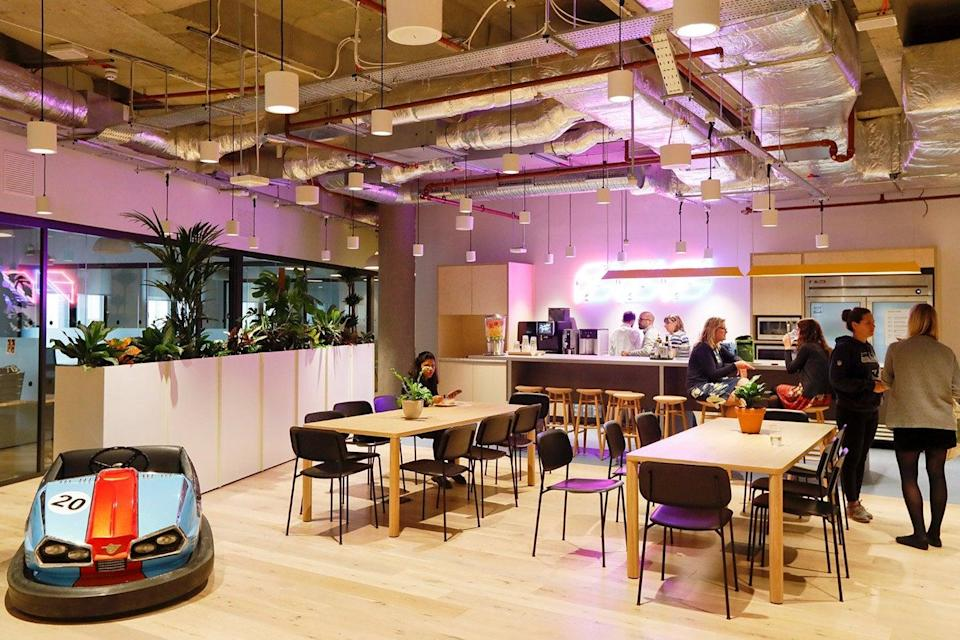 <p>Facing the future: main, a break-out zone at WeWork in the One Poultry building</p> (Bloomberg)