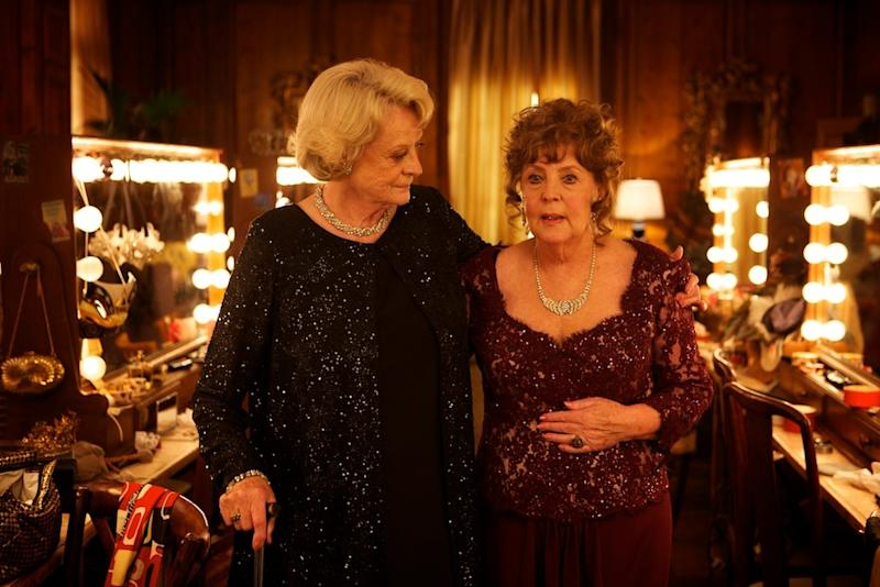 """This film image released by The Weinstein Company shows Maggie Smith, left, and Pauline Collins in a scene from """"Quartet."""" (AP Photo/The Weinstein Company)"""