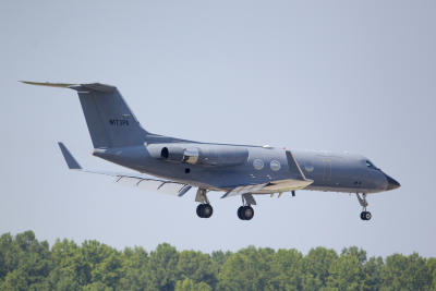 Air ambulance previously used to bring Ebola patients to the U.S. (AP Photo/Todd Kirkland)