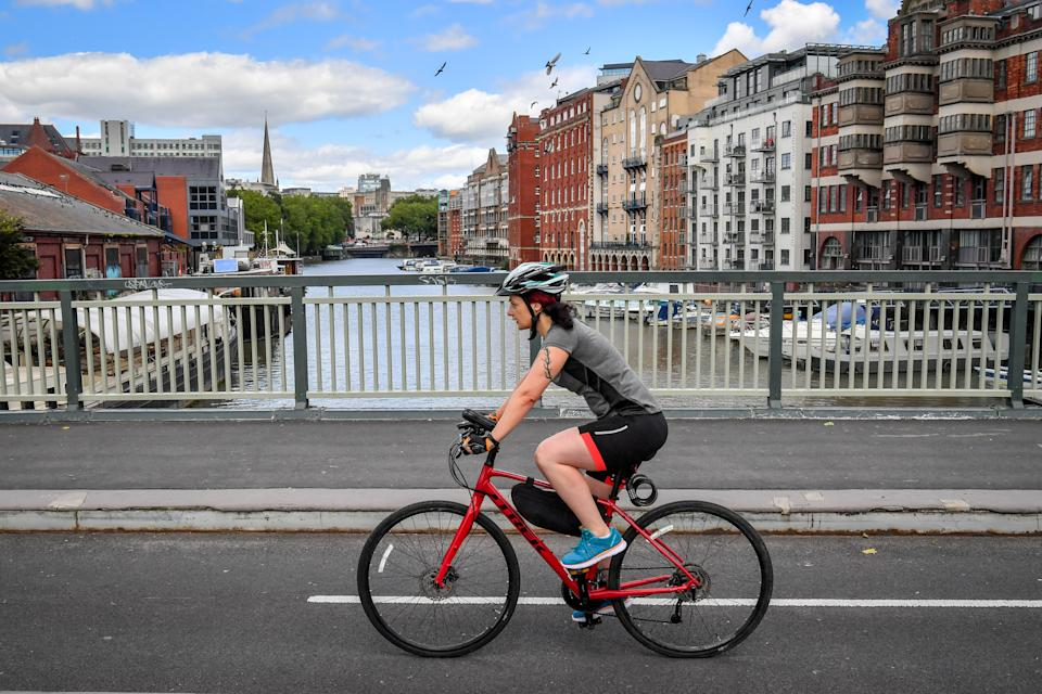 The government is encouraging people to cycle more. (PA)
