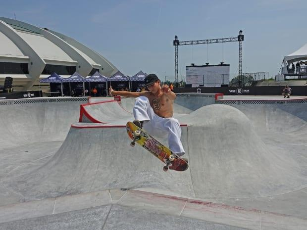 Philipe Dulude, a professional skateboarder from Montreal, loves the new park at the Olympic Stadium, one of many new parks that have opened in the city in recent years.