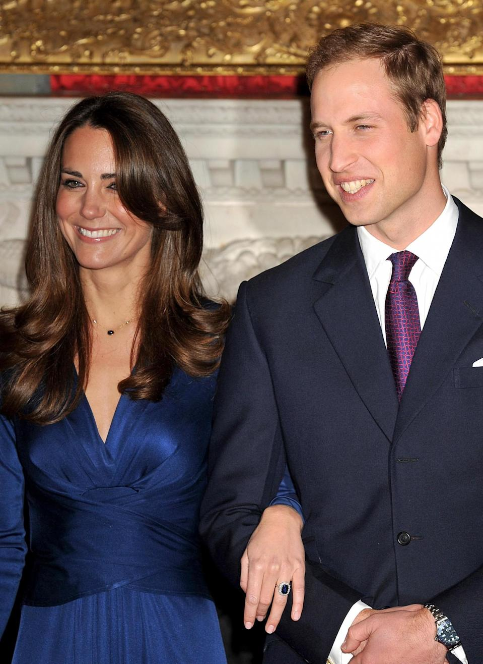 <p>The couple officially announce their engagement after William proposes on a safari holiday in Kenya. Obviously, the world went wild.<br><i>[Photo: PA]</i> </p>