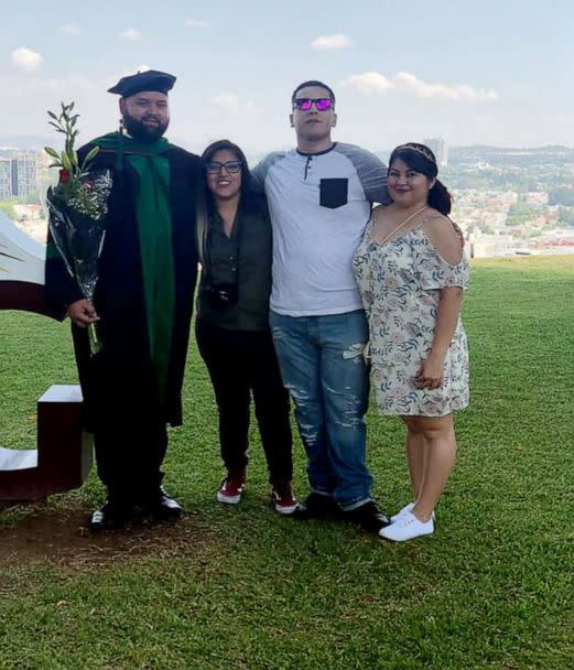 PHOTO: The immediate family of Jessy Pacheco, 30, attends his graduation from medical school in Guadalajara, Mexico, on June 14, 2019. (Jessy Pacheco/Facebook)
