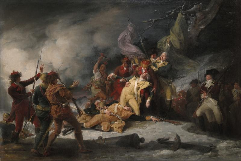 Death of general montgomery wikimedia commons