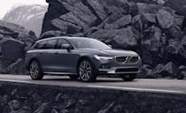 """<p>Pile the Top Safety Pick+ award onto the mountain of reasons why wagons are awesome. The <a href=""""https://www.caranddriver.com/volvo/v90"""" rel=""""nofollow noopener"""" target=""""_blank"""" data-ylk=""""slk:Volvo V90"""" class=""""link rapid-noclick-resp"""">Volvo V90</a> and V90 Recharge received a styling update for 2021, as well as new wireless and USB-C charging features. It's like the double-cheeseburger version of the V60, there's more of what you want here. Same powertrain options, but more passenger and cargo room on the inside. Every V90 comes with standard driver-assistance features like automated emergency braking with pedestrian detection, lane-departure warning with lane-keeping assist, and adaptive cruise control with semi-autonomous driving mode. </p><p><a class=""""link rapid-noclick-resp"""" href=""""https://www.caranddriver.com/reviews/a15078325/2018-volvo-v90-t6-awd-test-review/"""" rel=""""nofollow noopener"""" target=""""_blank"""" data-ylk=""""slk:V90 TESTED"""">V90 TESTED</a> 