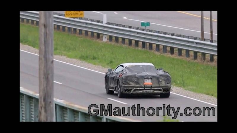 Mid-Engined Chevy Corvette Test