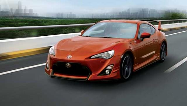 Orange Toyota 86