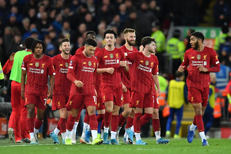 Liverpool were without numerous first team players for this Merseyside encounter. (Photo by PAUL ELLIS/AFP via Getty Images)