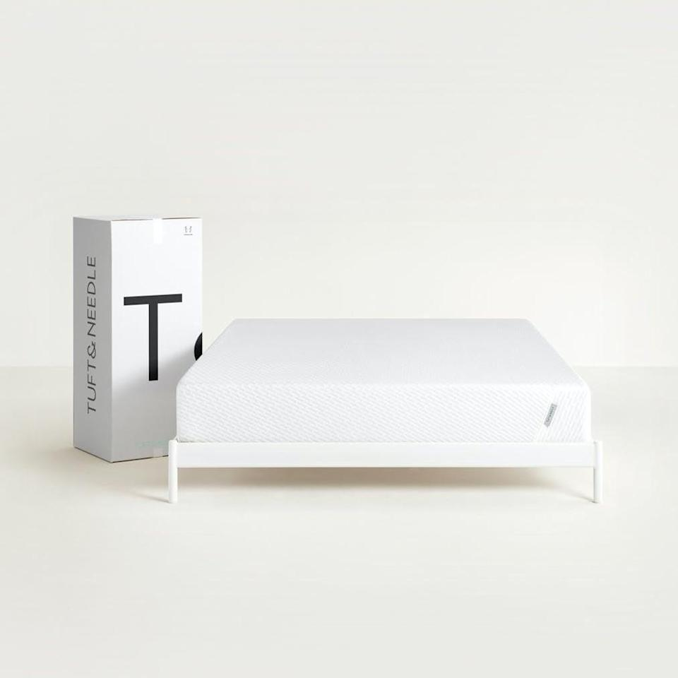 """<p>""""I've been disappointed by box mattress purchases in the past, and I had almost decided to give up on them altogether. Then my boyfriend decided we should try <span>Tuft &amp; Needle Original Mattress</span> ($405-$765, originally $450-$850) after hearing great things from a friend, and I'm so glad we did. It's been over two years, and we're still in love with our mattress. We even purchased a second one for our guest bedroom!"""" - Renee Rodriguez, contributing editor</p> <p>If you want to read more, here is the <a href=""""https://www.popsugar.com/home/photo-gallery/48145039/image/48145050/Tuft-Needle-Original-Mattress"""" class=""""link rapid-noclick-resp"""" rel=""""nofollow noopener"""" target=""""_blank"""" data-ylk=""""slk:Helix Dusk Medium Feel Mattress With Extra Support"""">Helix Dusk Medium Feel Mattress With Extra Support</a> review.</p>"""
