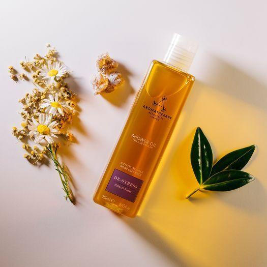 """<p><strong>De-Stress</strong></p><p>aromatherapyassociates.com</p><p><strong>$39.00</strong></p><p><a href=""""https://go.redirectingat.com?id=74968X1596630&url=https%3A%2F%2Fwww.aromatherapyassociates.com%2Fusa%2Fde-stress-mind-shower-oil.html%3FranMID%3D41934%26ranEAID%3DTnL5HPStwNw%26ranSiteID%3DTnL5HPStwNw-KvscmK2pvg_spkwgV3XITA&sref=https%3A%2F%2Fwww.townandcountrymag.com%2Fstyle%2Fbeauty-products%2Fg34238272%2Fstress-relief-gifts%2F"""" rel=""""nofollow noopener"""" target=""""_blank"""" data-ylk=""""slk:Shop Now"""" class=""""link rapid-noclick-resp"""">Shop Now</a></p>"""