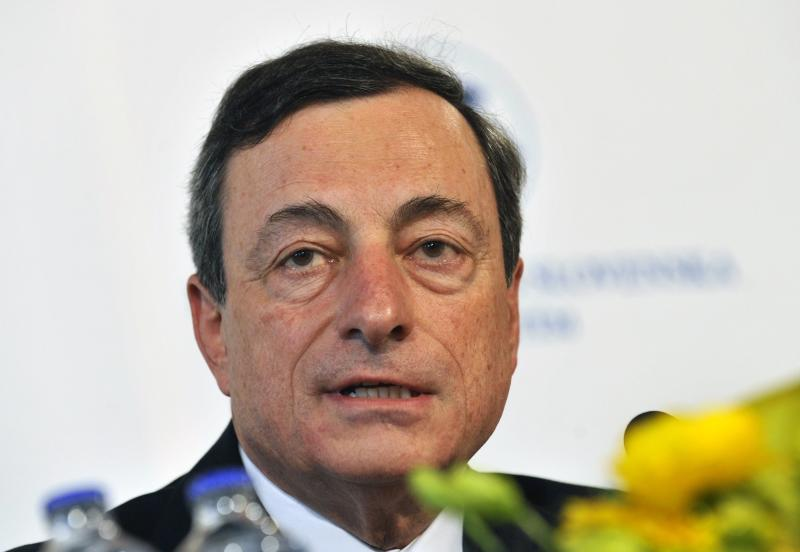 European Central Bank's President Mario Draghi speaks at the press conference during the Meeting of the Governing Council of the Eropean Central Bank in Bratislava, Slovakia, Thursday, May 2, 2013. (AP Photo/CTK, Jan Koller) SLOVAKIA OUT