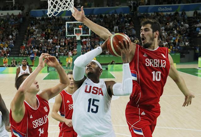 Serbia came within a missed 3-pointer of sending Team USA into OT. (Reuters)