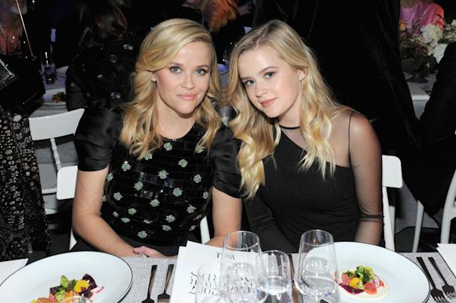 Reese Witherspoon and daughter Ava Phillippe attend a dinner this month. (Photo: Craig Barritt/Getty Images for WSJ. Magazine 2017 Innovator Awards)