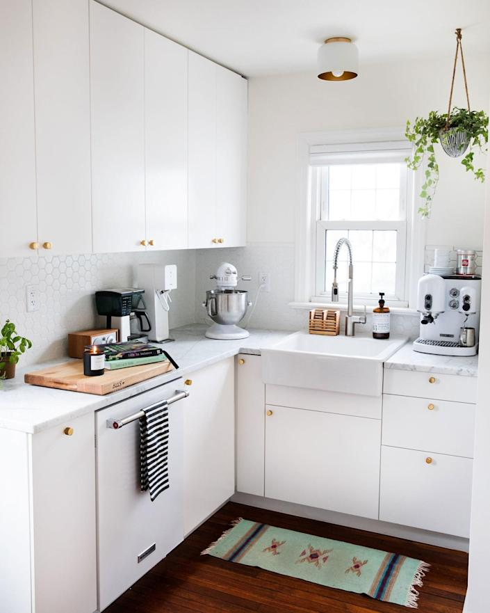 """<div class=""""caption""""> After: So much counter space in such a small room. </div> <cite class=""""credit"""">Photo: Jillian Guyette</cite>"""