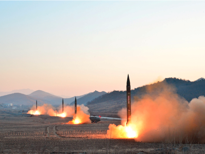North Korean leader Kim Jong Un supervises a ballistic rocket launching drill of Hwasong artillery units of the Strategic Force of the KPA in an undated photo. KCNA/via REUTERS