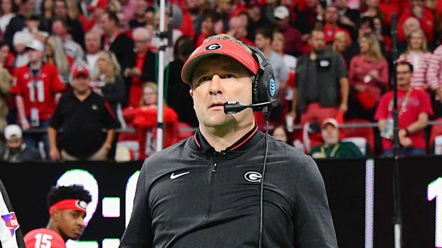 Kirby Smart tried his best to politic for Georgia after the SEC championship game loss to Alabama. It wasn't enough. (AP)