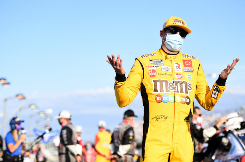 This is a good way for Kyle Busch to sum up his season. (Photo by Jared C. Tilton/Getty Images)