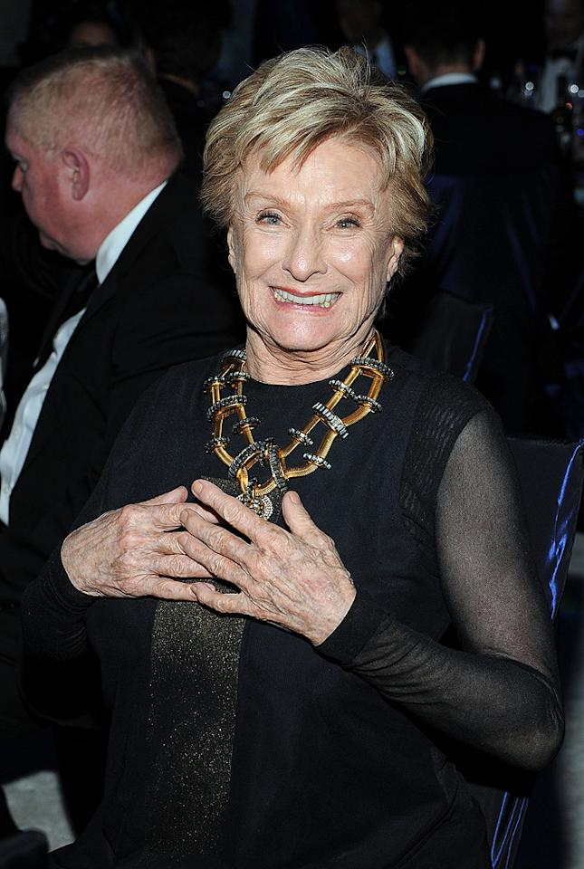 Cloris Leachman attends the 2012 Elton John AIDS Foundation Academy Awards Party in Los Angeles, CA.