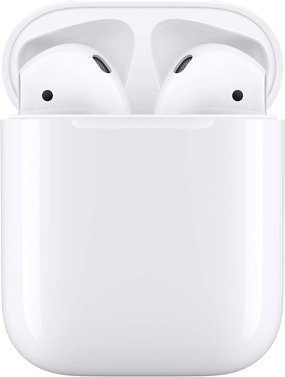 Save 10% on Apple AirPods with Charging Case. Image via Amazon.