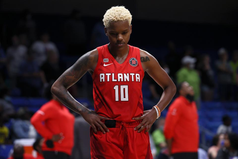 Courtney Williams is no longer with the Atlanta Dream after posting a video to her YouTube channel that showed herself and teammates engaged in a physical altercation. (Tom Pennington/Getty Images)