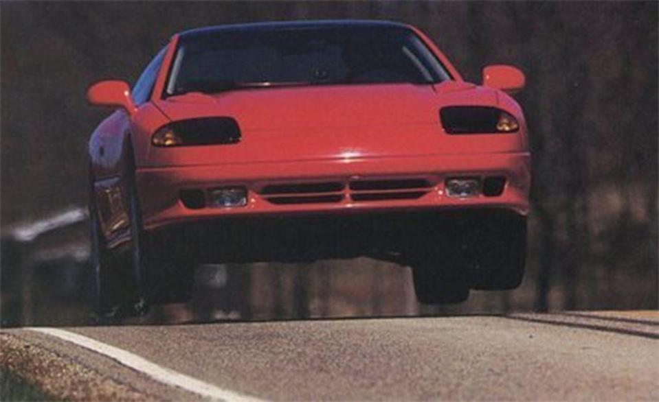 <p>We jumped the Nissan, so of course we also just had to jump the Dodge Stealth it was being compared against. We're fans of symmetry.</p>