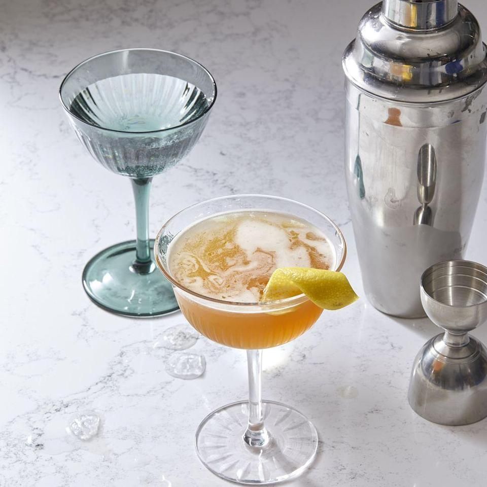"""<p>The Prohibition era sidecar cocktail is a simple combination of three ingredients: cognac (a type of brandy, made only in the Cognac region of France), orange liqueur and lemon juice. The mix of warming brandy, deep orange and bright lemon makes the cocktail not too sweet, not too tart.<br></p><p><em><a href=""""https://www.goodhousekeeping.com/food-recipes/a30213219/sidecar-cocktail-recipe/"""" rel=""""nofollow noopener"""" target=""""_blank"""" data-ylk=""""slk:Get the recipe for Classic Sidecar »"""" class=""""link rapid-noclick-resp"""">Get the recipe for Classic Sidecar »</a></em></p>"""