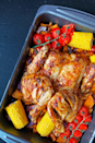 """<p>If you're a big <a href=""""https://www.delish.com/uk/food-news/a29726645/nandos-how-to-order/"""" rel=""""nofollow noopener"""" target=""""_blank"""" data-ylk=""""slk:Nando's"""" class=""""link rapid-noclick-resp"""">Nando's</a> fan, then we've got the perfect <a href=""""https://www.delish.com/uk/food-news/a31974638/slow-cooker-nandos-peri-peri-chicken-recipe/"""" rel=""""nofollow noopener"""" target=""""_blank"""" data-ylk=""""slk:piri-piri chicken"""" class=""""link rapid-noclick-resp"""">piri-piri chicken</a> recipe for you. This oven-roasted <a href=""""https://www.delish.com/uk/chicken-recipes/"""" rel=""""nofollow noopener"""" target=""""_blank"""" data-ylk=""""slk:chicken"""" class=""""link rapid-noclick-resp"""">chicken</a> is insanely delicious - perfect for a feast for 4, an easy dinner for 6, or for two with some seriously good leftovers. </p><p>Get the <a href=""""https://www.delish.com/uk/cooking/recipes/a32235057/peri-peri-chicken/"""" rel=""""nofollow noopener"""" target=""""_blank"""" data-ylk=""""slk:Peri-Peri Chicken"""" class=""""link rapid-noclick-resp"""">Peri-Peri Chicken</a> recipe.</p>"""