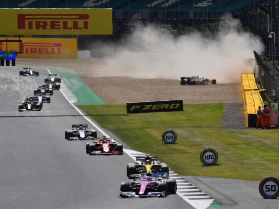 Kevin Magnussen was taken out by Alex Albon on the first lap of the British Grand Prix (EPA)