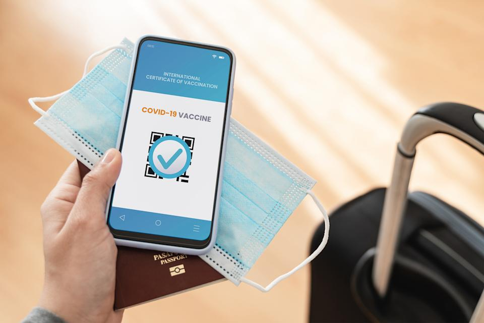COVID passports are being used to allow Brits to avoid quarantine after travel to holiday destinations this summer. (Getty Images)